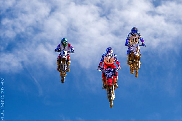 3 bikers in the sky