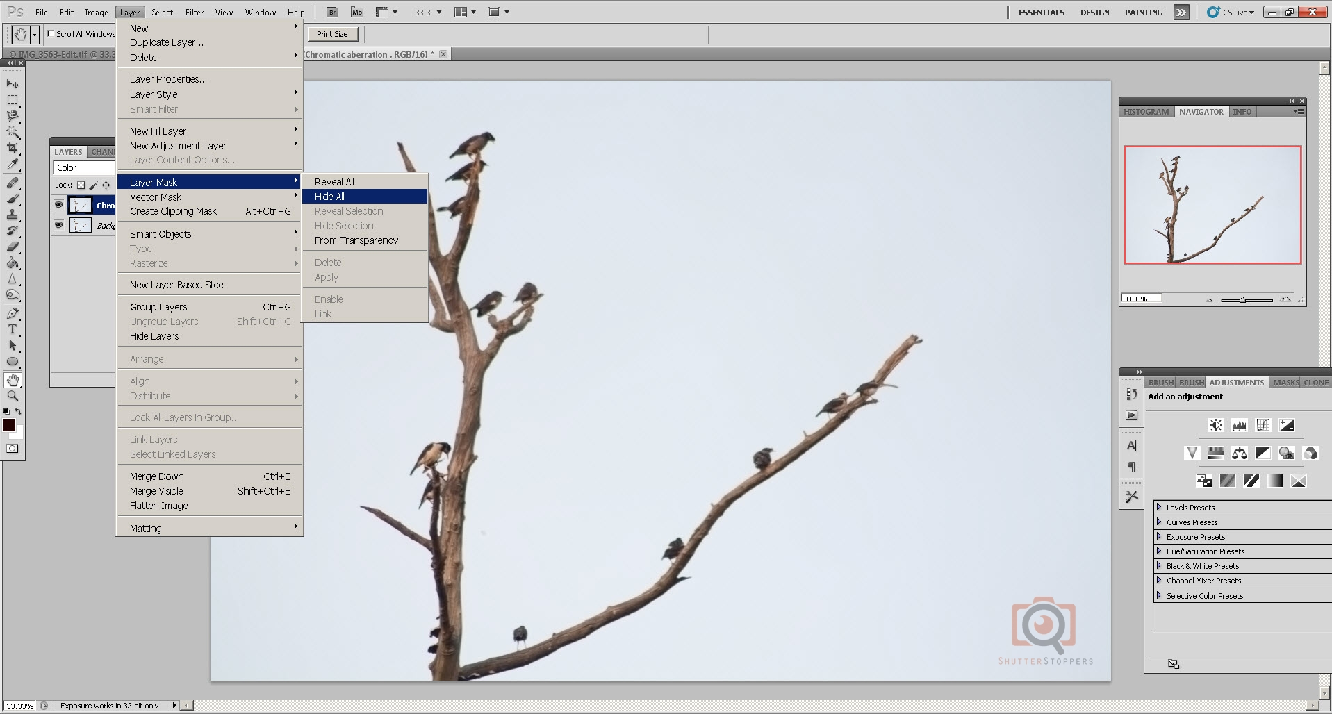 how to open a picture as a layer in photoshop