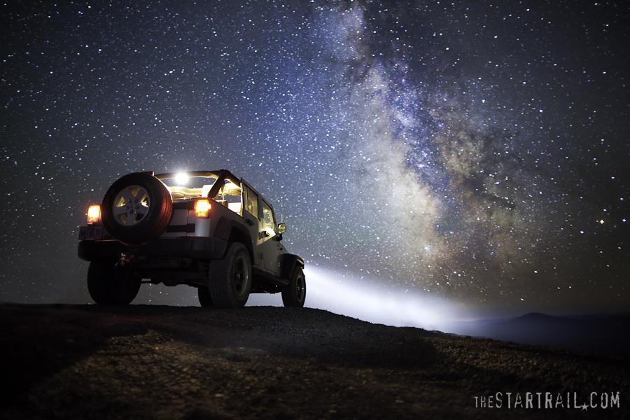 jeep wrangler and milky way