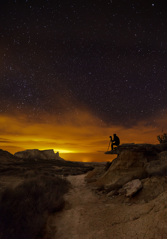 photographer on a mountain