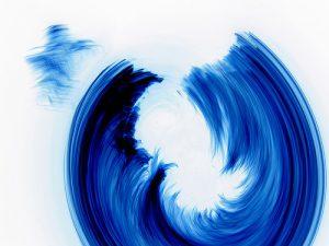 camera toss photograph of blue light