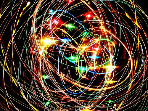 christmas light toss photograph