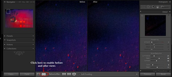effect of lightroom 4 noise reduction