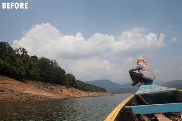 Man sitting on a boat