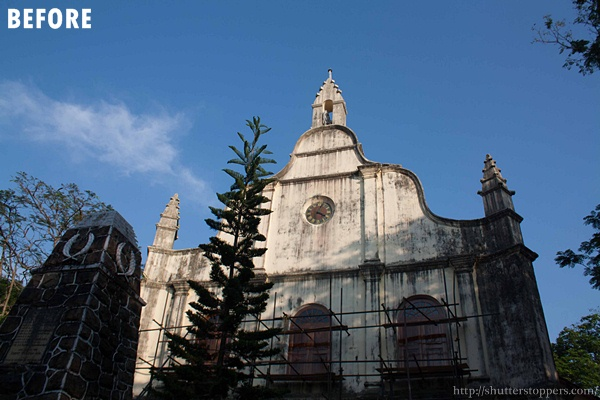 an old church and blue sky