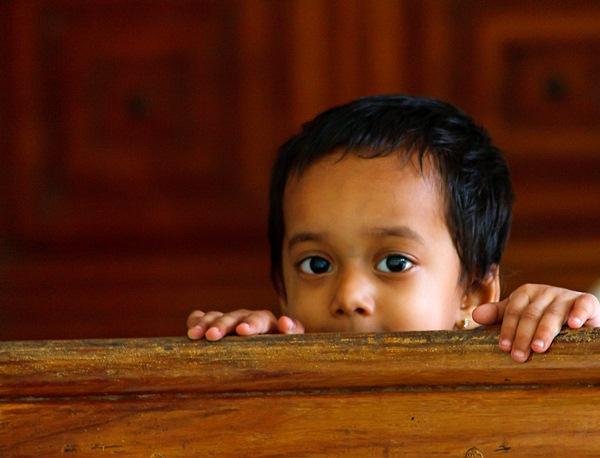 half portrait of a kid