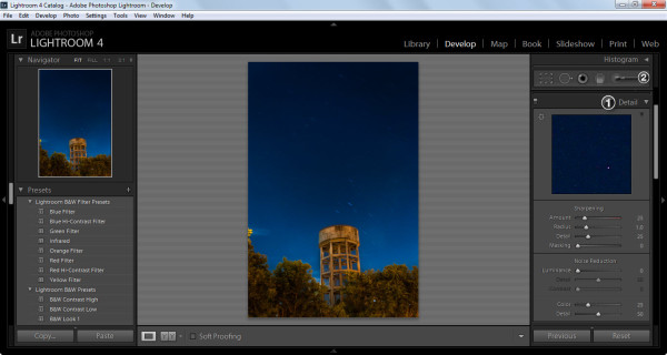 Lightroom 4 develop module