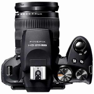 Fujifilm FinePix HS25EXR top view
