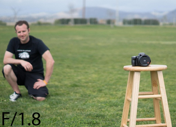 A shallow DOF photo at f1.8 -- aperture priority mode