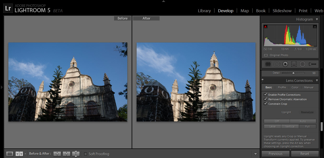 perspective change using upright feature in lightroom 5 beta