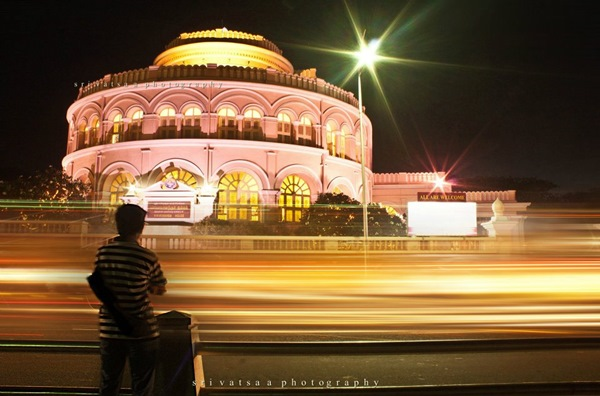 long exposure photography in city
