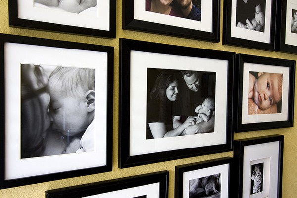 Photo frames on wall -- understanding photo papers