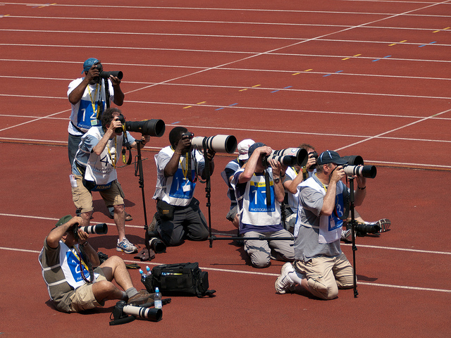 professional photographers in sports ground