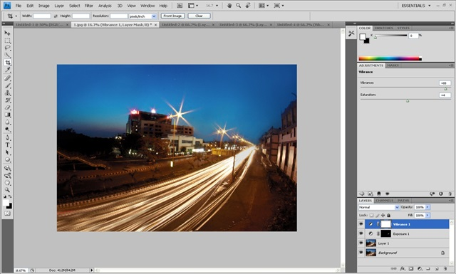 increase vibrance of the image -- photoshop tutorial