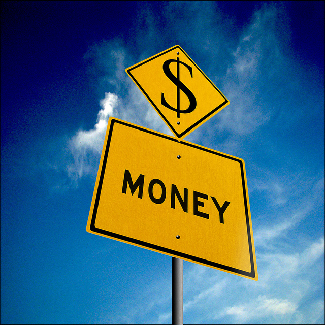 money sign board -- photography business