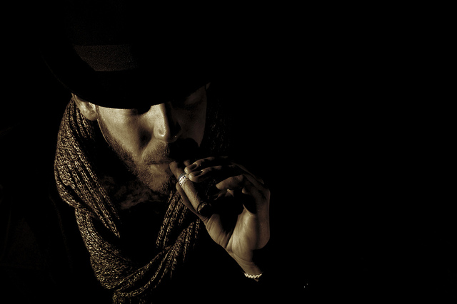 portrait photo of a man smoking cigar -- Portrait photography tips