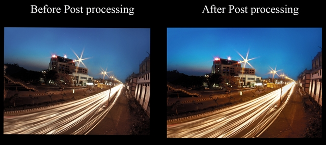 Before and after of photoshop tutorial
