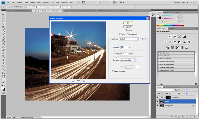 sharpen tool -- photoshop tutorial