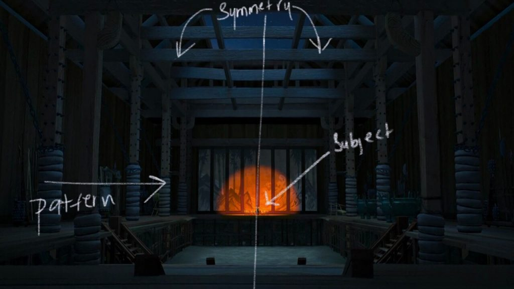 explaining symmetry in an artwork from kungfu panda movie