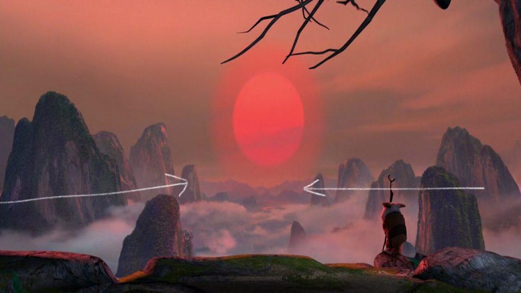 screen shot from movie kungfu panda movie