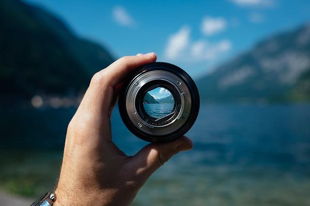 Camera lens holding depth of field