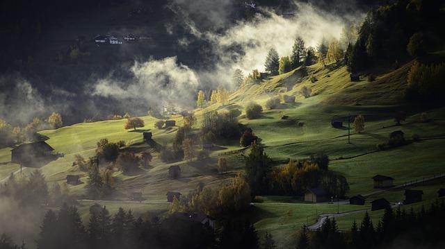 deep depth of field in landscape photograph